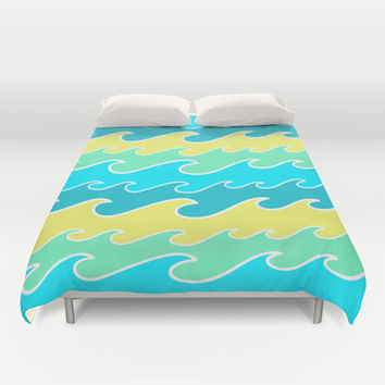 Ocean Waves Duvet Cover by tzaei | Society6