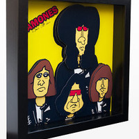 The Ramones Art Punk Rock 3D Pop Art by PopsicArt on Etsy