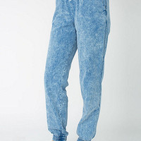 Unisex Acid Wash Denim Billionaire Pant