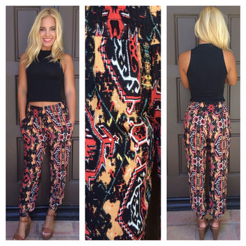 Hot Lava Printed Harem Pants