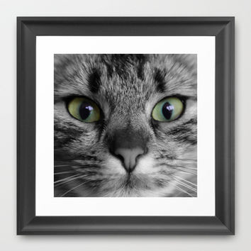 cats details square Framed Art Print by Steffi ~ findsFUNDSTUECKE