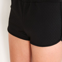 QUILTED RUNNING SHORTS