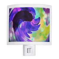 Purple Sunflower Swirl Night Light