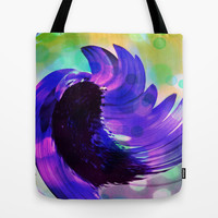 Purple Sunflower Swirl Tote Bag by minx267