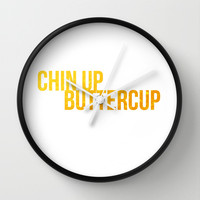 Chin up Buttercup Wall Clock by Miss Golightly