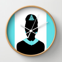 For Audrey Wall Clock by Miss Golightly