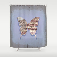 butterfly collection ~ New York Shower Curtain by Steffi ~ findsFUNDSTUECKE