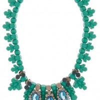 Boutique 1 - EK THONGPRASERT - Green Croise Necklace | Boutique1.com