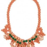 Boutique 1 - EK THONGPRASERT - Pink Jete Entrelace Necklace | Boutique1.com