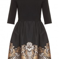 Boutique 1 - MARTIN GRANT - Black Gold Embroidered Dress | Boutique1.com