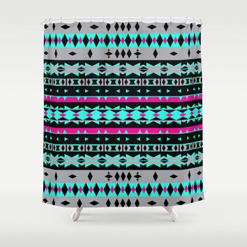 Mix #582 Shower Curtain by Ornaart