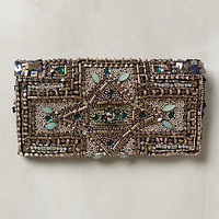 Hedge Maze Beaded Pouch