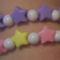 Pastel Star Stretch Bracelets  Set of 2  Fairy by onsecretwings
