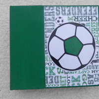 6x6 Chipboard Soccer Scrapbook Photo Album