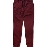 ZANEROBE Burgundy Sureshot Drawstring Chino Pants | HYPEBEAST Store. Shop Online for Men's Fashion, Streetwear, Sneakers, Accessories
