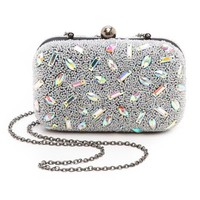Santi Hologram Bead Box Clutch