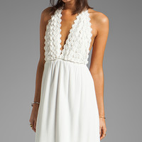 For Love & Lemons Camillia Maxi Dress in White