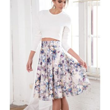 FLORAL HORIZON SKIRT