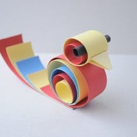 Primary colored paper bird home decor/party by imeondesign