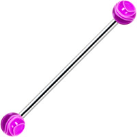 Purple Marble Industrial Barbell 31mm | Body Candy Body Jewelry