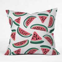 Watermelon Wander Throw Pillow