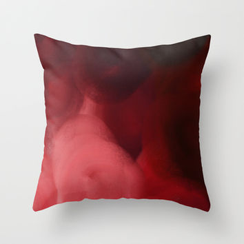 Red Ocean Throw Pillow by Color Project by Sanja