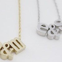 Personalized Mini Initials Necklace - Silver or Gold