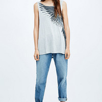 Truly Madly Deeply Flight Drape Back Tee - Urban Outfitters