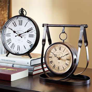 Time & Temperature Hanging Clock