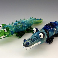 Crocodile Glass Tobacco Pipe - HP104