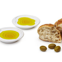 TIERED OLIVE OIL DISH | White Pinzimonio Dipping Bowl | UncommonGoods
