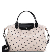 Le Pliage Neo Polka-Dot Medium Satchel