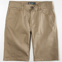 Lrg Core Collection Mens Twill Shorts Dark Khaki  In Sizes