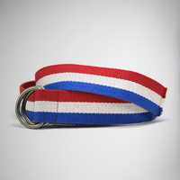 Red, White & Blue Web Belt
