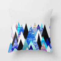 Peaks 3 Throw Pillow by Elisabeth Fredriksson