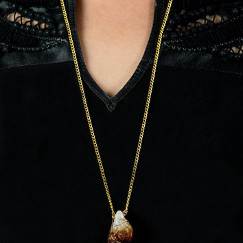 Raw Citrine Necklace