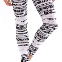 Legging with Tribal Stripe Print