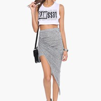Asymmetric Maxi Skirt