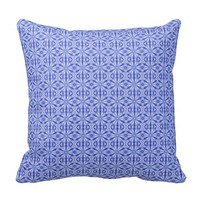 Royal Blue Fractal Pattern Cushion
