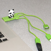 PANDA ON BAMBOO USB HUB