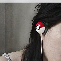 Pokephones Headphones earphones by ketchupize on Etsy