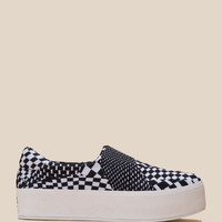 OPENING CEREMONY SLIP-ON PLATFORM CHECKERED SNEAKERS - WOMEN - SHOES - OPENING CEREMONY