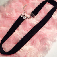 Soft Black Velvet Choker