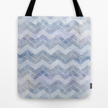 abstract pattern blue Tote Bag by VanessaGF