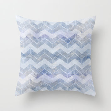 abstract pattern blue Throw Pillow by VanessaGF