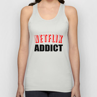 Netflix Addict Unisex Tank Top by Poppo Inc. | Society6