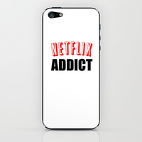 Netflix Addict iPhone & iPod Skin by Poppo Inc. | Society6