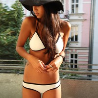 Ebuddy Bikini Set Swimsuit Bathing Suit Diving Material Made Neoprene