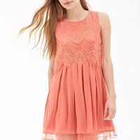Eyelash Lace Pleated Dress
