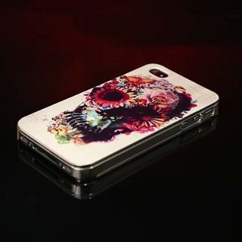 Lewire Floral Skull Printed Phone Case For iPhone 5/5S 0630J075 Color A